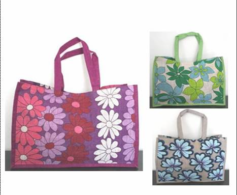 STOCK-FLOWERED BAG